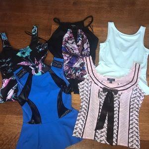 EUC BUNDLE Bebe GIRLS NIGHT OUT tops size medium